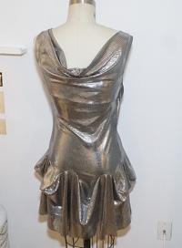 Vivienne Westwood metallic flare dress  Angle3