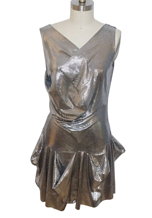 Vivienne Westwood metallic flare dress