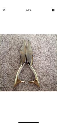 Giuseppe Zanotti Heels Size 5 Gold Beaded Kitten Angle8