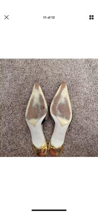 Giuseppe Zanotti Heels Size 5 Gold Beaded Kitten Angle9
