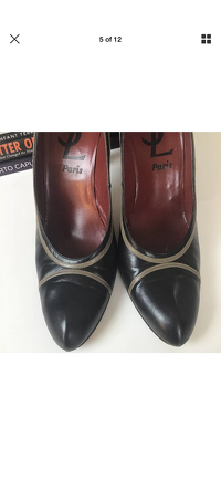 Yves Saint Laurent Heels Pumps 9.5 YSL Leather Angle6