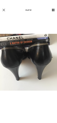 Yves Saint Laurent Heels Pumps 9.5 YSL Leather Angle8