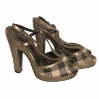 Burberry t-strap heels