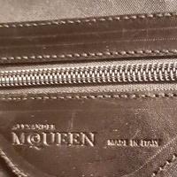 Alexander McQueen Metallic Flapper Satchel Angle7