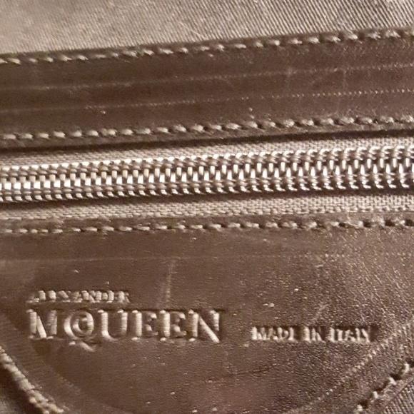 Alexander McQueen Metallic Flapper Satchel