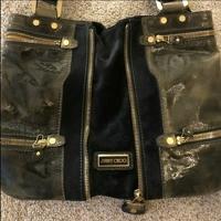 Jimmy Choo Mona bag green and black leather