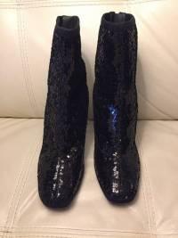 New Zanotti sequin boots runway Angle2