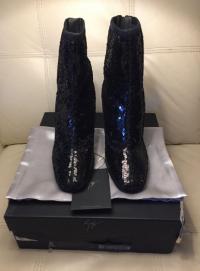 New Zanotti sequin boots runway Angle3