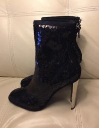 New Zanotti sequin boots runway Angle4