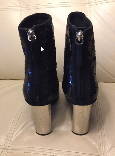 New Zanotti sequin boots runway