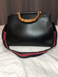 Gucci  Nymphaea top handle leather satchel