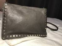 Prada Small studded glaze etiquete leather shoulde Angle9