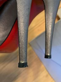 Louboutin pumps in metallic  Angle7