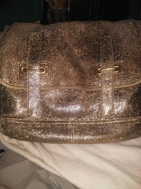 Gold Volcano Crackled leather small Besace Messeng