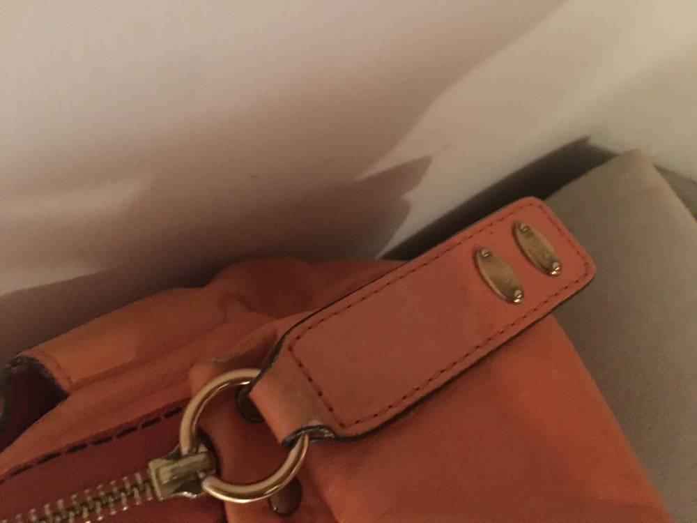 Chloe doctor bag in vibrant orange