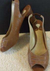 Chloe Leather slingback heels