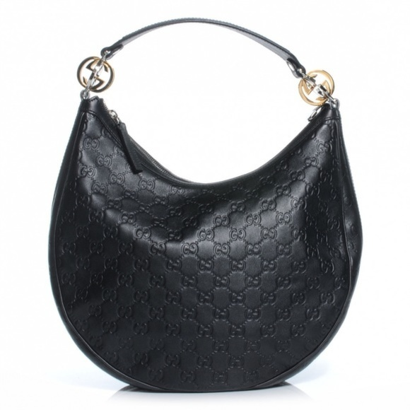 049ddbfc6b66 Product | Detail | Gucci Twins Leather Hobo