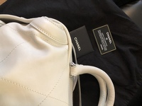 Cream chevron leather Chanel All Day bag  Angle7