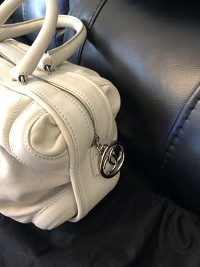 Cream chevron leather Chanel All Day bag  Angle9