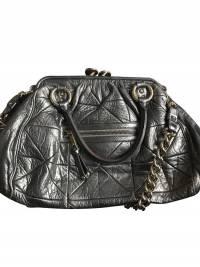 large  metallic quilted Stam bag