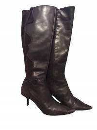 Leather and suede signature tall boot