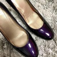 Purple Weitzman Heels