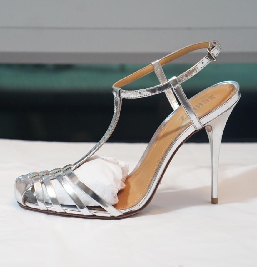 Schultz silver gate sandals