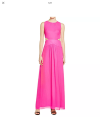 Nicole Miller Cut Out Formal Gown