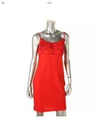 Carmen Marc Valvo Embellished Cocktail Dress