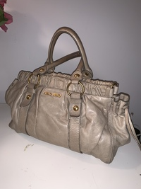 Miu Miu ruched handbag  Angle6