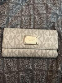 Large Michael Kors cream wallet