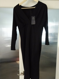 Authentic Piazza Semipone Classic Black Dress