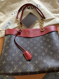 Louis Vuitton Pallas Tote monogram with Red