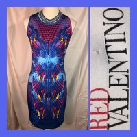 Abstract Print Bodycon Dress