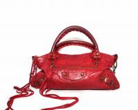 Red Balenciaga Classique Motorcycle bag