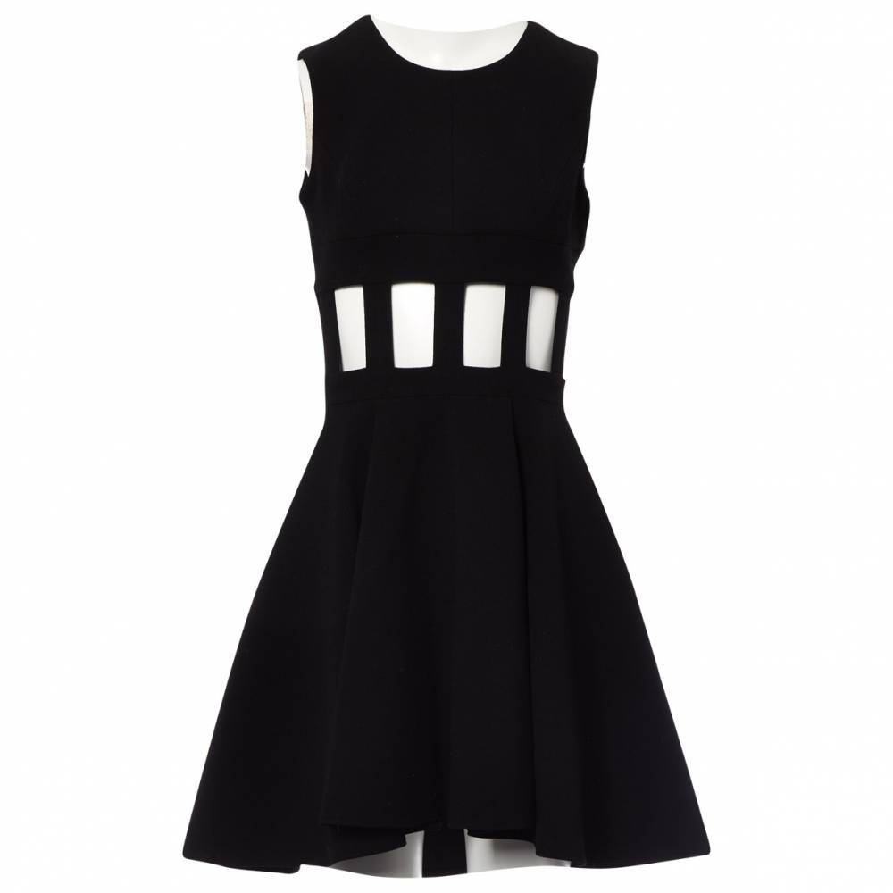 David Koma Cut out flare dress