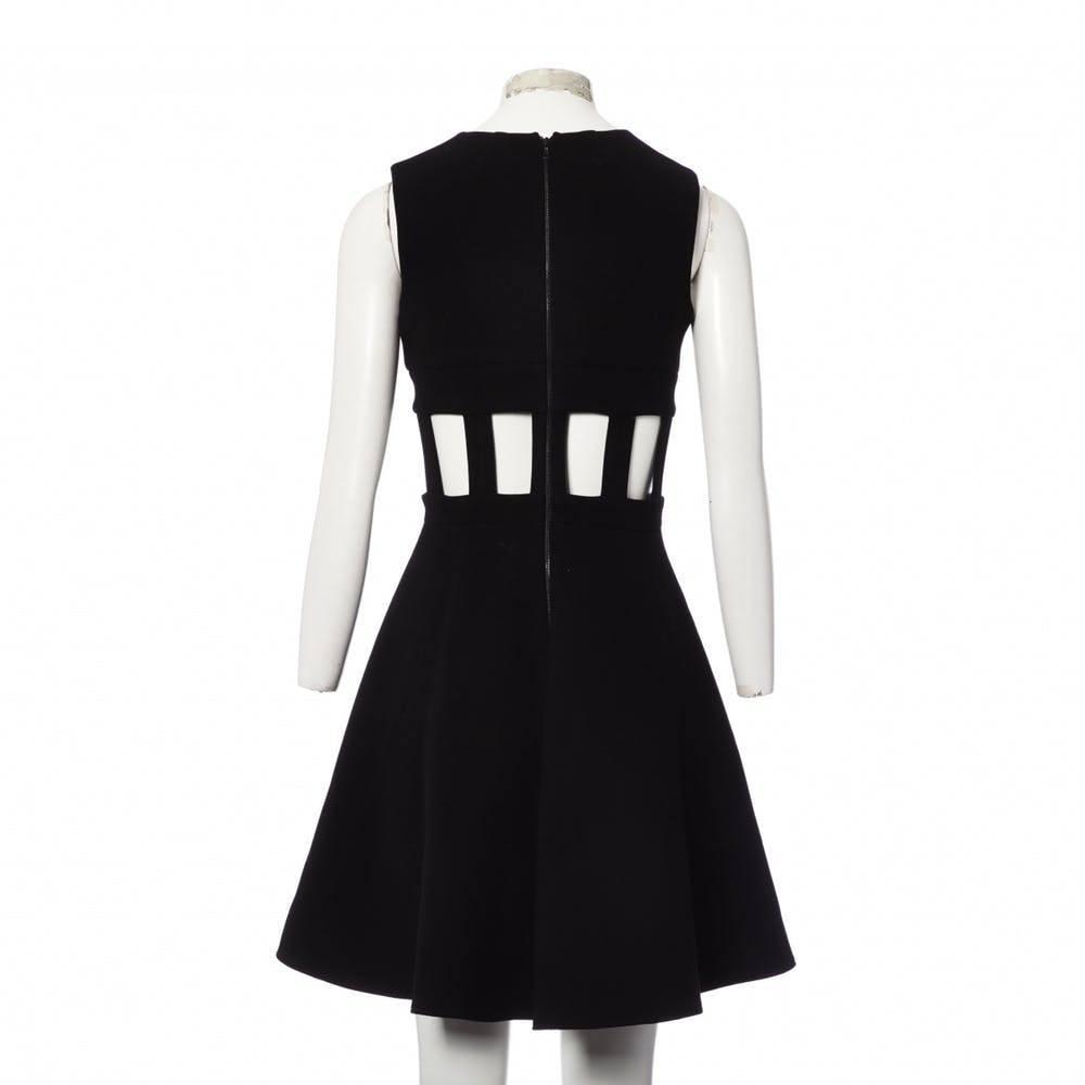 David Koma Cut out flare dress