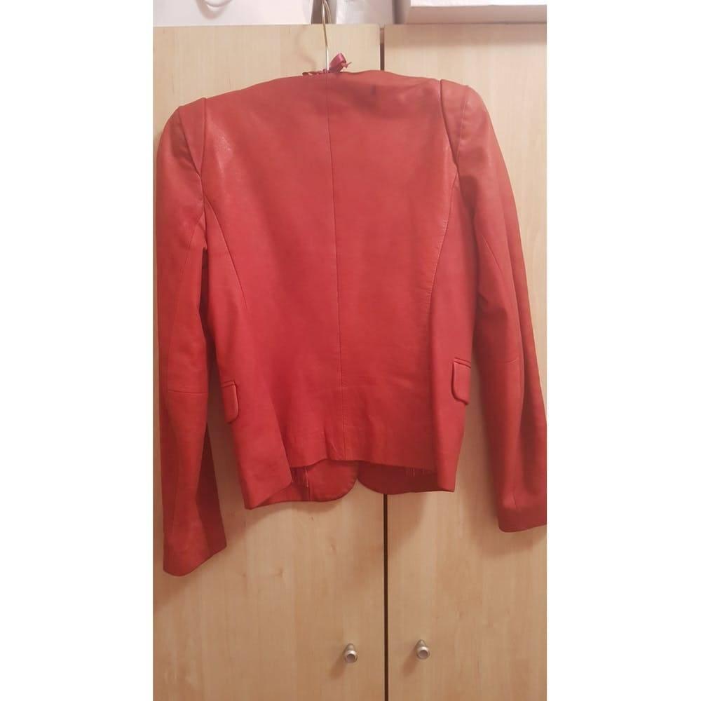 Sandro cropped leather jacket