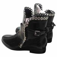 Alaia booties with grommet trim Angle2