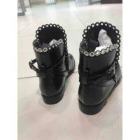 Alaia booties with grommet trim Angle3