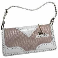 Dior monogram scallop clutch