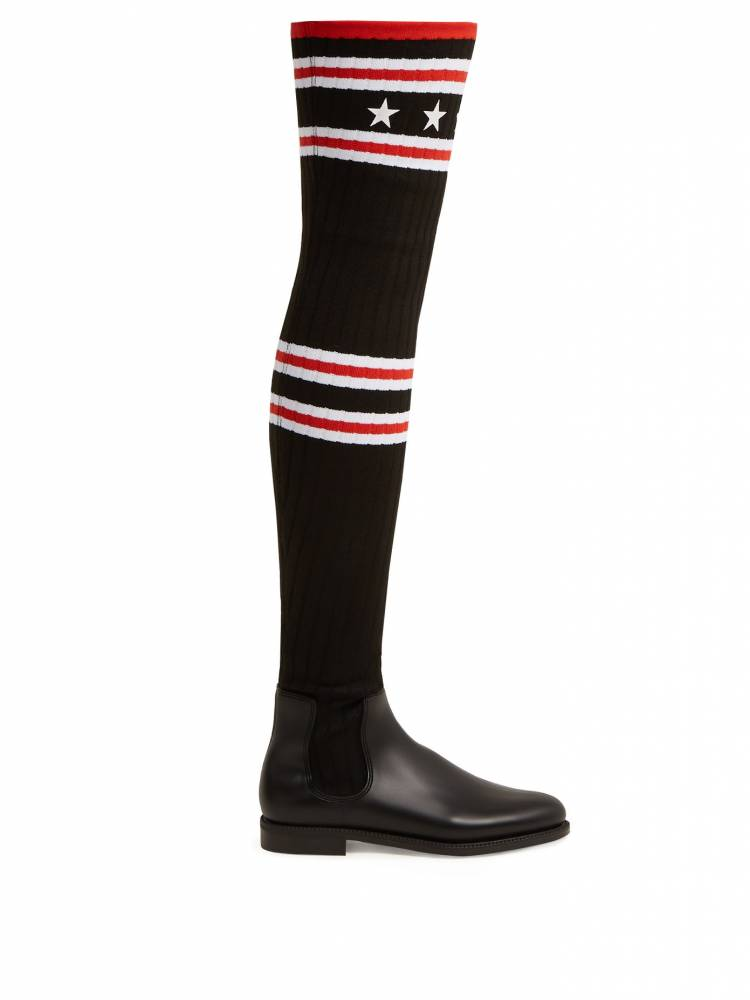 Givenchy over the knee sock boots