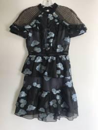 Mini Peplum Dress from Self Portrait Angle3