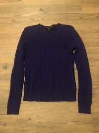 Ralph Lauren Purple Cashmere Sweater