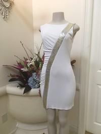 Emilio Pucci white and metallic dress