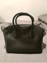 Givenchy Antigona Medium Black Goatskin Handbag Angle1