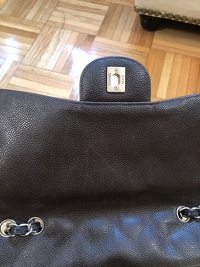 Chanel Jumbo Caviar Dark Brown Angle3
