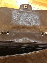 Chanel Jumbo Caviar Dark Brown Angle4