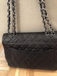 Chanel Jumbo Caviar Dark Brown Angle5