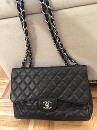Chanel Jumbo Caviar Dark Brown Angle6